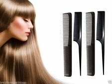 10Pc Quality Hairdressing Detangler Detangling Hair Styling Black Brush Comb Set
