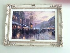 Thomas Kinkade Boulevard Lights Paris s/n 18 x 27 Provincial frame painting