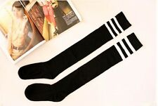 WOMEN FOOTBALL BASKETBALL BASEBALL SPORT OVER KNEE THIGH HIGH STRIPED SOCKS