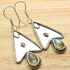 925 Silver Overlay Blue Fire LABRADORITE Earrings Women Fashion Stores Online