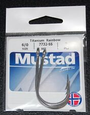 2 Pack Mustad 7732-SS Big Game Stainless Steel Sea Demon Tuna Hooks - Size 6/0