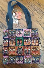Womens Laurel Burch Cat Print Tapestry Purse Handbag Shoulder Bag EUC