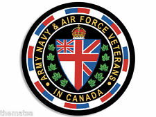 "CANADA CANADIAN SEAL ARMY NAVY AIR FORCE VETERAN 4"" USA MADE STICKER DECAL"