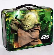 STAR WARS Movie Lucas Films YODA TIN Tote WORK HOBBY TOOL SNACK LUNCH BOX New