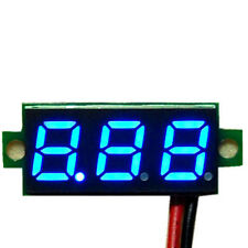 "Mini 0.28"" DC Digital Voltmeter Panel Mount LED Voltage Volt Meter Blue 2.50~30V"