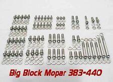 Mopar Big Block 383 400 413 440 Polished Stainless Grade 8 ARP Engine Bolt Kit