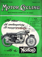 Dec 8 1955 Norton 'Model 99' Motor Cycle ADVERT - Magazine Cover Print