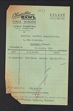 """VILLEMOMBLE (93) CHEVILLES & COLLE """"RAWL / DUROFIX"""" en 1954"""