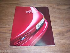 "MINT ORIGINAL 1995 FORD ESCORT XX / GT SALES BROCHURE 11"" X 9"" (BOX 342)"