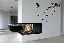 Flying birds in tree branch    vinyl wall decal