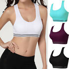Women Workout Tank Top Stretch Seamless Racerback Fitness Padded Yoga Sports Bra