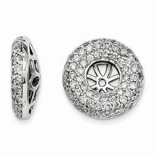 14k White Gold Pave Diamond 1.00ct G/SI1 Earring Jacket For Stud Post Earrings