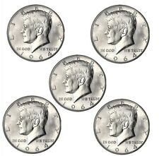 1964 Kennedy Half Dollar BU Lot of 5