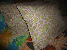 VINTAGE CANNON ROYAL FAMILY RETRO FLORAL PINK GREEN CAFE (PAIR) KING PILLOWCASES
