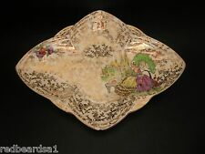 Empire Ware Crinoline Lady Vintage Gold Chintz Dish England 1950's A/F to corner