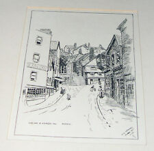 Original Pen & Ink Picture By D.G.Kendal - West Gate / Stepcote Hill Exeter 1921