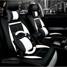 Black Leather Toyota Camry Seat Covers Front Rear Car Covers Waterproof YD01