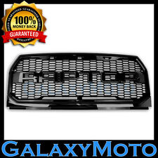 15-16 Ford F150 Raptor Style Gloss Black Full Replacement Mesh Grille+Shell 2017