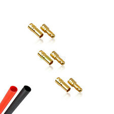 3 PAIR de RC 3.5mm Oro X conector de bala Inc encogimiento del calor para motor. Esc UK