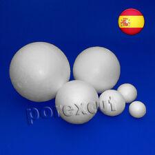 12 bolas de 20 mm de diámetro de porexpan, polystyrene, poliestireno,fofuchas