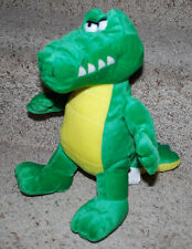 "Kuddle Me Toys Stuffed Animal Alligator Crocodile Plush Toy 13"" T Green Yellow"
