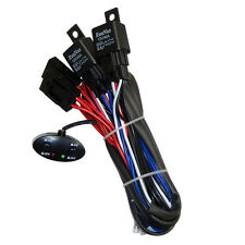 Relay Harness Wiring Cable 2-Switch Fog Light Off Road HID LED Bar Lamp 4-LAMPS
