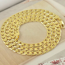 Handsome 9K Yellow Gold Filled Men's Link Chain Necklace,24 Inches,Z2515