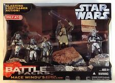 Star Wars Battle Pack Mace Windu Attack Battallion (Battalion) MINT! Target Exc