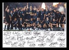 NEW ZEALAND ALL BLACKS WORLD CUP AUTOGRAPHED SIGNED & FRAMED PP POSTER PHOTO