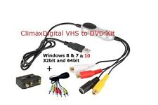 ClimaxDigital VCAP303 VHS Video & Camcorder Tapes to PC/DVD Kit  windows 8 / 10