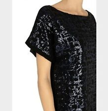 "Bnwt"" Coast"" Size 8 Black & Navy Uriah Sequin Dress Evening Party Cocktail New"