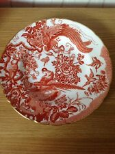 "ROYAL CROWN DERBY 'Red Aves' 10.5"" Dinner Plate, Excellent Condition"