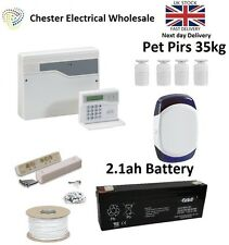 Honeywell Accenta Mini G4 LCD Burglar Intruder Alarm Kit House 4 x Pet Pirs 35kg