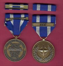 NATO Afghanistan Assistance medal with ribbon bar with ISAF bar