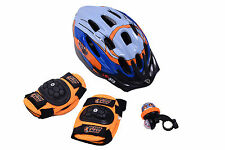BOYS BICYCLE XMAS GIFT SET ACTION MAN KIDS BIKE HELMET PADS BELL BARGAIN PACK