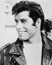 John Travolta as Danny Zuko in Grease 24X30 Poster leather jacket smiling