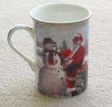 SANTA & SNOWMAN MACNEIL CHRISTMAS MUG FINE CHINA MICRO & DISHWASHER SAFE BOXED