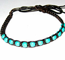BRACELET ANKLET COTTON HEMP TURQUOISE FRIENDSHIP MEN WOMEN SURFER BEACH BOY GIRL