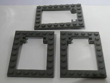 Lego 3 encadrements de trappes gris set 4730 7419 7418 / 3  dark grey trap frame