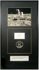 1969 NEIL ARMSTRONG SIGNED NOTECARD DISPLAY Lot 111