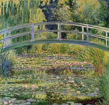 "The Japanese Bridge by Claude Monet, 15""x16"", Giclee Canvas Print"