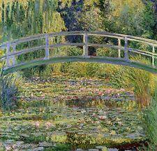 "The Japanese Bridge by Claude Monet, 15""x16"", Museum Quality Canvas Print"