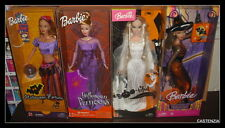 BARBIE LOT OF 4 HALLOWEEN PRINCESS/BOO-TIFUL/TRICK OR CHIC/FORTUNE TELLER NRFB