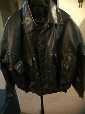 Alta Moda Borius XL Faux Leather Bomber Lined Coat Jacket Made In Italy Vintage