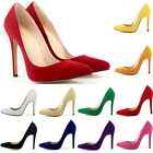 Trendy Women Sexy Suede High Heels Pointed Fashion Style Work Shoes Pump