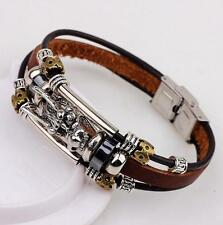 PU Leather Men Accessory Fashion Male Bracelets Parataxis Dragon Multilayer New