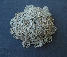 ANTIQUE LACE & FABRIC PIN CUSHION