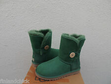 UGG PINE GREEN BAILEY BUTTON SUEDE/ SHEEPSKIN BOOTS, WOMENS US 7/ EUR 38 ~NEW