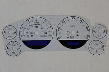 07-13 GM TRUCK OR UTILITY WHITE ESCALADE STYLE GAUGE FACE CLUSTER APPLIQUE ONLY