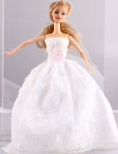 Wholesale Handmade White The original soft clothes dress for barbies doll 1092